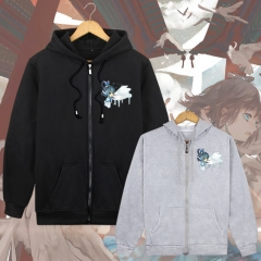 2Colors Vocaloid Luo Tianyi Print Beautiful Girl Long Sleeve Zipper With Hat Anime Hoodie
