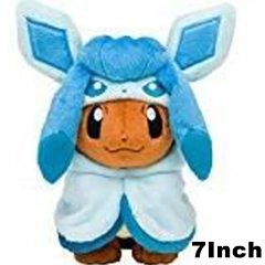 Pokemon Cosplay Glacia For Kids Doll Anime Plush Toy