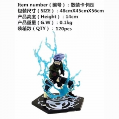 Naruto Hatake Kakashi Cartoon PVC Japanese Anime Figure Without Box 14cm