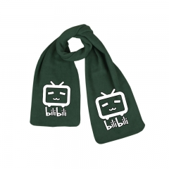 Bilibili Print Little TV Green Long Warm Anime Scarf