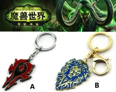 World of Warcraft Two Design Can Choose Keyring Anime Keychain