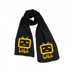 Bilibili Print Fashion High Quality Print Little Cute TV Black Long Warm Anime Scarf