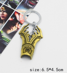 Justice League Bronze Color Anime Keychain