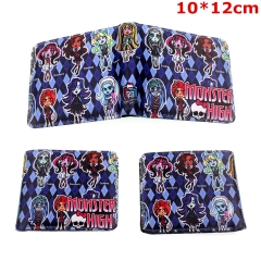 Monster High Cosplay Cartoon Folding PU Purse Anime Wallet