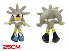 Sonic Game Silver the Hedgehog Cosplay Cartoon Cute For Kids Doll Anime Plush Toy