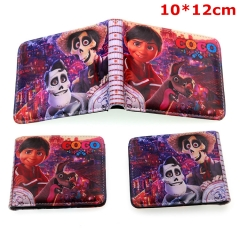 Coco Cosplay Movie Cartoon Folding PU Purse Anime Wallet
