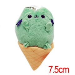 Pusheen the Cat Cartoon Stuffed Doll With Ice Cream Cute Design Anime Plush Toys 7.5CM
