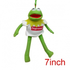 Sesame Street Kermit the Frog American Hot Cartoon Wholesale Stuffed Doll Anime Plush Pendant 7inch