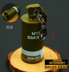 Player Unknown's Battle Grounds Smoke Grenade Model Pendant Fashion Wholesale Good Quality Anime Keychain 8.5CM