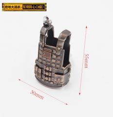 Player Unknown's Battle Grounds Fashion Military Vest Model Wholesale Good Quality Alloy Anime Figure 5.5*3CM