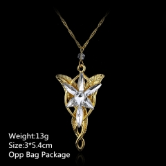 3*5.4CM Famous Movie Twilight Alloy Golden Pendant Wholesale Fashion Beautiful Anime Necklace Set
