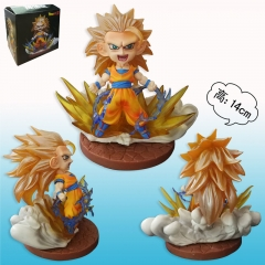 Dragon Ball Z Son Goku Model Toys Super Saiyan Anime Figure 12cm 753#H