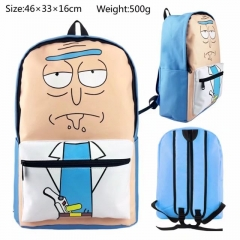Rick and Morty Anime Cartoon Canvas Backpack Students Bag