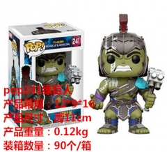 The Thor Cosplay Movie Funko POP 241# The Hulk Collection Cartoon Model Toy Anime Figure