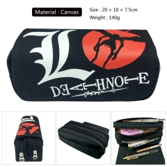 Death Note Cosplay Canvas Cartoon For Student Anime Pencil Bag