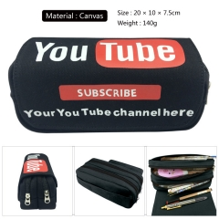 You Tube Cosplay Canvas For Student Anime Pencil Bag