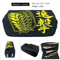 Attack on Titan/Shingeki No Kyojin Cosplay Canvas For Student Anime Pencil Bag