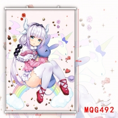 Miss Kobayashi's Dragon Maid Lovely Girl Painting Hanging Wall Scroll Home Decoration Poster Cosplay Wallscrolls 280G