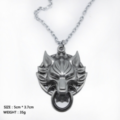 Final Fantasy Cosplay Cartoon Decoration Neck Silver Wolf Anime Necklace