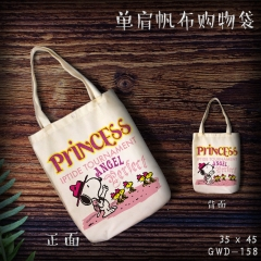 Snoopy Cosplay Cartoon Cute For Girl Canvas Anime Casual Shoulder Shopping Bag