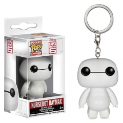 Funko POP Pocket Big Hero 6 Nursebot Baymax Anime PVC Keychain