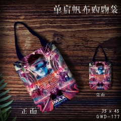 Ready Player One Cosplay Movie Cool For Girl Canvas Anime Casual Shoulder Shopping Bag