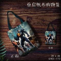 Pacific Rim Cosplay Movie Cool For Girl Canvas Anime Casual Shoulder Shopping Bag
