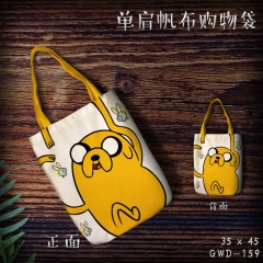 Adventure Time Cosplay Cartoon Cute For Girl Canvas Anime Casual Shoulder Shopping Bag