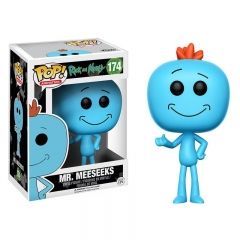 Funko POP Ricky and Morty Mr.Meeseeks Anime PVC Figure Toy 174#