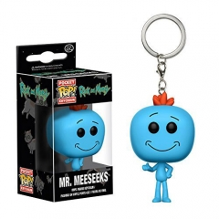 Funko POP Pocket Rick and Morty Mr.Meeseeks Anime PVC Figure Toy Keychain