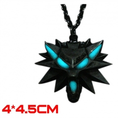 The Witcher Game Noctilucent Alloy Cosplay Fancy Necklace