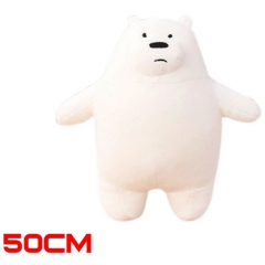 We Bare Bears Anime Ice Bear Cute Soft Plush Doll Kids Gifts Toy 50cm