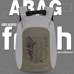 Attack on Titan / Shingeki No Kyojin Waterproof Anime PU and Canvas Backpack Bag
