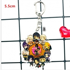 Japanese Touken Ranbu Game Acrylic Cute Cartoon Keychain