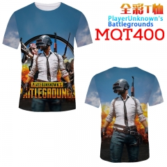 Playerunknown's Battle Grounds Game Cosplay Print Anime T Shirts Anime Short Sleeves T Shirts 210g