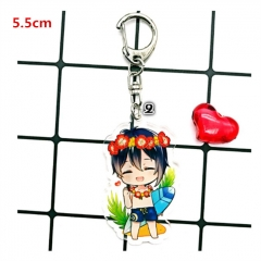 Japanese Touken Ranbu Mikadukimunechika Game Acrylic Cute Cartoon Keychain