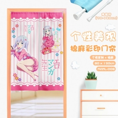 Eromanga Sensei/ Izumi Sagiri Cosplay Catoon Cute Color Printing Cotton-flax Anime Curtain