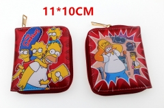 The Simpsons Anime Zipper PU Leather Wallet