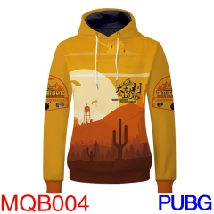 Playerunknow's Battle Grounds Game Cosplay Long Sleeves Hoodie Print Warm Anime Hooded Hoodie M-3XL