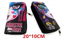 Monster High Anime PU Leather Zipper Wallet