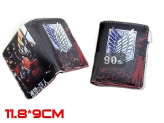 Shingeki no Kyojin  Attack on Titan  PU Leather Anime Wallet and Purse