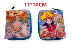 Pretty Soldier Sailor Moon Anime Zipper PU Leather Wallet