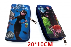 Hotel Transylvania Movie Anime PU Leather Zipper Wallet