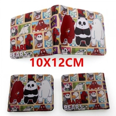 We Bare Bears Anime PU Leather Wallet