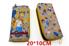 The Simpsons Anime PU Leather Zipper Wallet