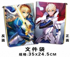 Fate Stay Night Cosplay Cartoon For Student Office File Holder Anime File Pocket