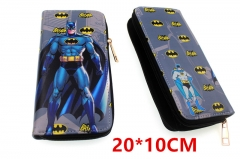 Batman Movie Anime PU Leather Zipper Wallet
