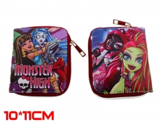 Monster High Anime Zipper PU Leather Wallet