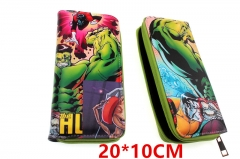 Marvel Comic The Hulk Movie PU Leather Zipper Wallet