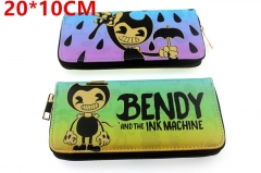 Bendy and The Ink Machine Anime PU Leather Zipper Wallet